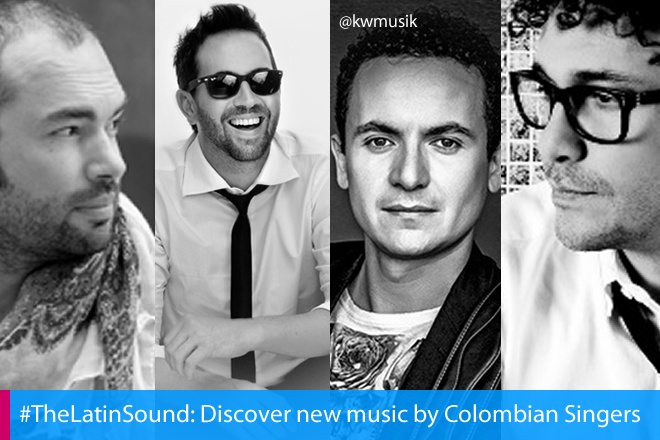 #TheLatinSound>>> Kw music presents a selection of the best Colombian artists For more visit http://www.kalicheworld.webs.com/  with SANTIAGO CRUZ, Lucas Arnau, FONSECA and ANDRES CEPEDA OFICIAL