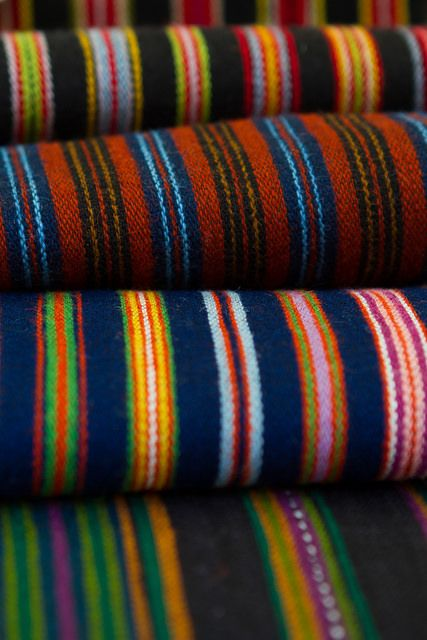 Hand woven wool skirt fabric for Latvian national costumes.