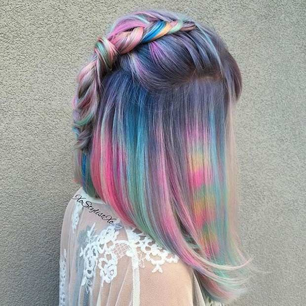 21 Pastel Hair Color Ideas for 2018 | StayGlam Hairstyles ... - photo#26
