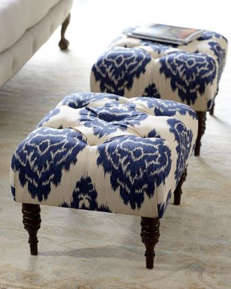"""""""Emily"""" Tufted Bench at Neiman Marcus."""