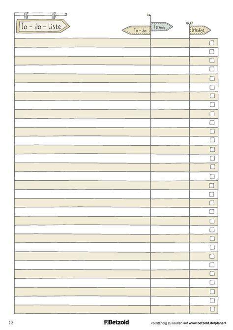 To Do Liste Vorlage Zum Ausdrucken To Do 13