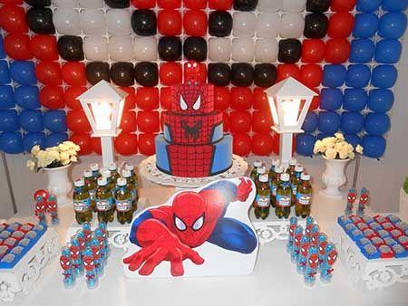 Como Fazer Decoração de Festa do Homem Aranha Fácil