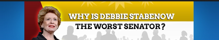 Why is Debbie Stabenow the worst senator? Click to find out! Vote her out!