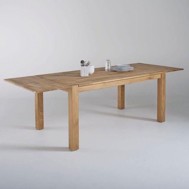 La Redoute Interieurs - Table, chêne massif, 2 allonges, Adelita | La Redoute