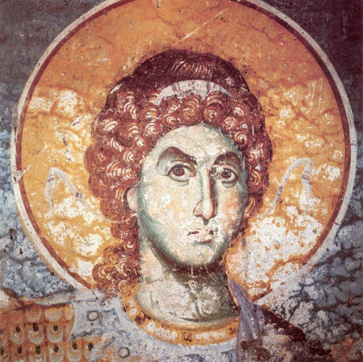 Archangel Michael :Protaton, Karyes Mount Athos. by Panselenos Manuel (1290). Phrygia in Asia Minor developed angelolatreias heresy and from there went on Symi in the Dodecanese as the value of the Angels and especially the Archangel (Archangel Michael Monastery Panormiti Michael Roukouniotis etc.). Large pilgrimage there Mantamados of Mytilene.