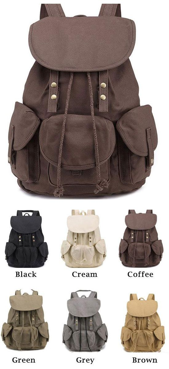 Which color do you like? Unique High School Bag Leisure Student Travel Canvas Backpack #large #scrub #school #college #student #bag #backpack #cute #fashion #nice #travel