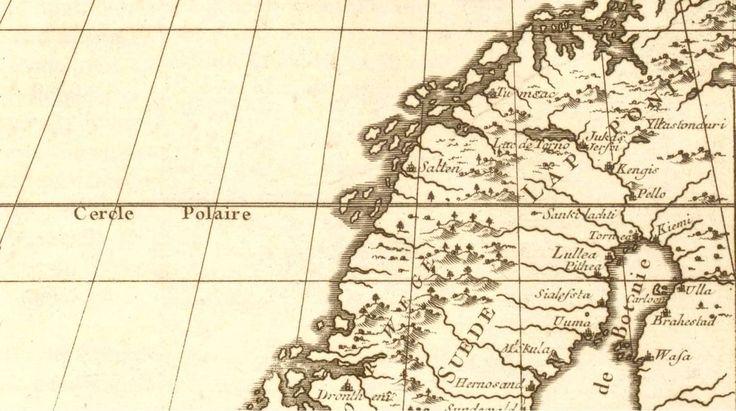 Ranskalainen napapiiri karttaa 1700-luvulta