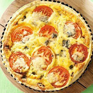 Recept - Kaasquiche met tomaat - Allerhande