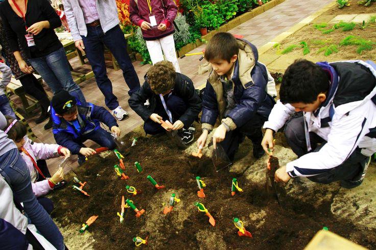 Los niños en contacto con la naturaleza