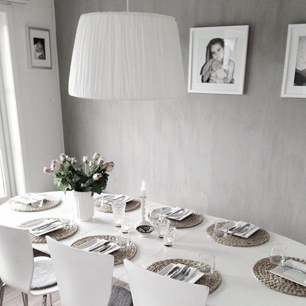 Dining place in grayscale - simple and elegant.