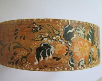Bauernmalerei Flour Dredger//Folk Art Sieve//Vintage Wooden Sieve//Vintage Sieve - Edit Listing - Etsy