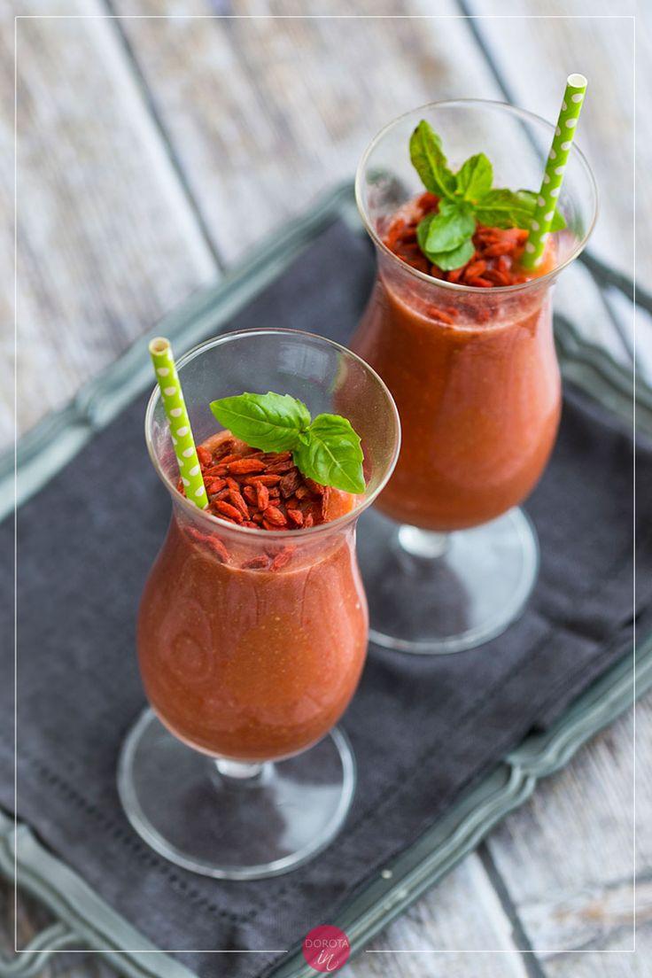 Koktajl pomidorowy czyli pyszny koktajl z pomidorów w wersji #fit! #przepis #pomidory #smoothie