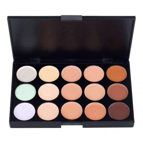15 Color Makeup Concealer/Foundation Palette Actual color may vary from image due to differences in viewing devices