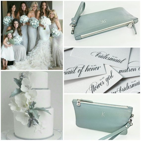 Monogrammed Bridesmaid Clutches Wristlets Gift Leather Wristlet Personalized Gifts Purse Bridal Party Iphone Case Pinterest