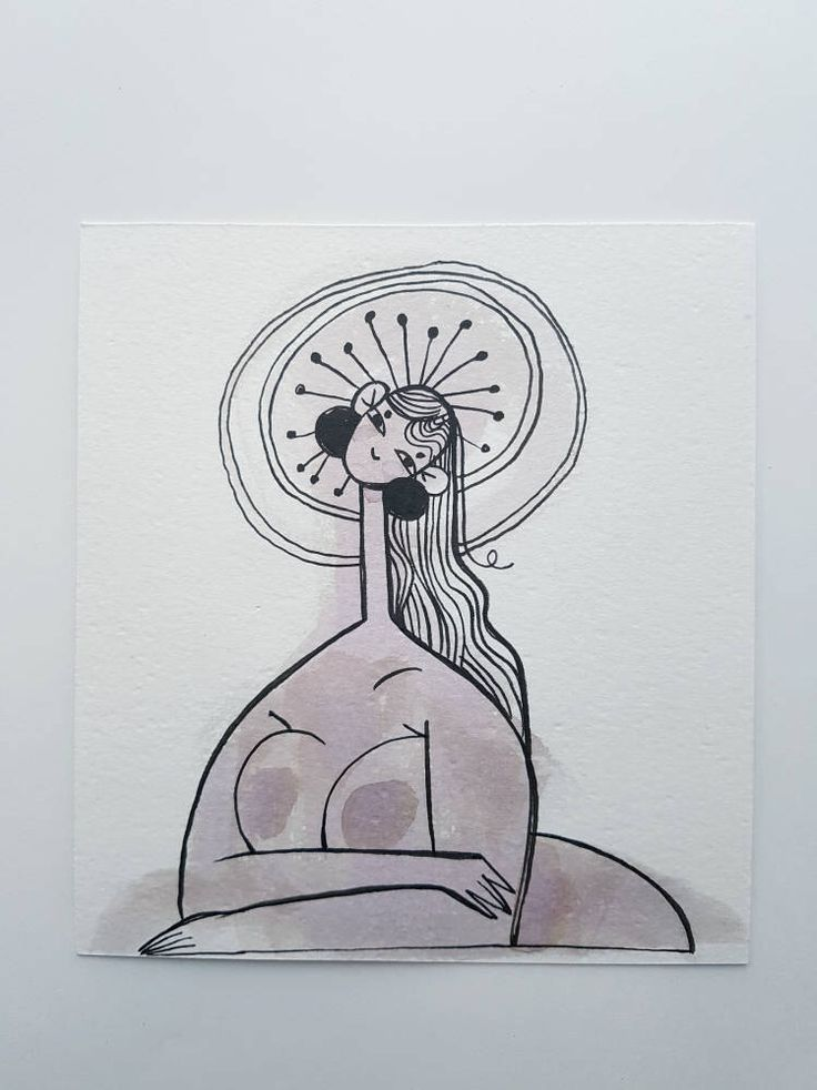 Big Boobies Ink Painting Illustration by SophieMcPike on Etsy https://www.etsy.com/listing/512547776/big-boobies-ink-painting-illustration
