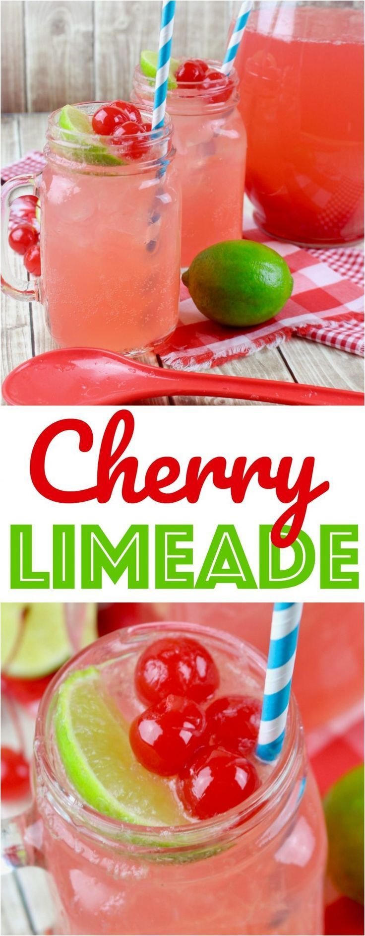 Copycat Sonic Cherry Limeade drink recipe from The Country Cook