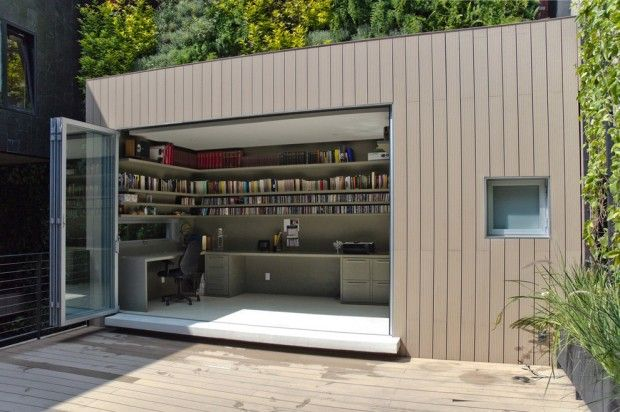 contemporary-home-office backyard office
