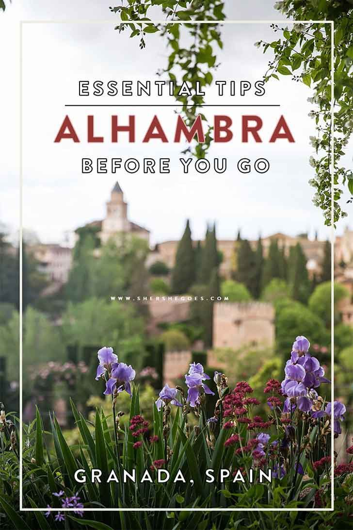 The Alhambra caps visitors to just 6,600 per day. Find out everything about buying tickets and the best time slots to see the fortress in my Essential Alhambra Guide. #spain #andalusia #granada: