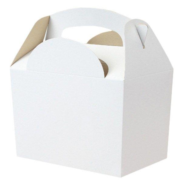 Boîte Repas Blanche en Carton