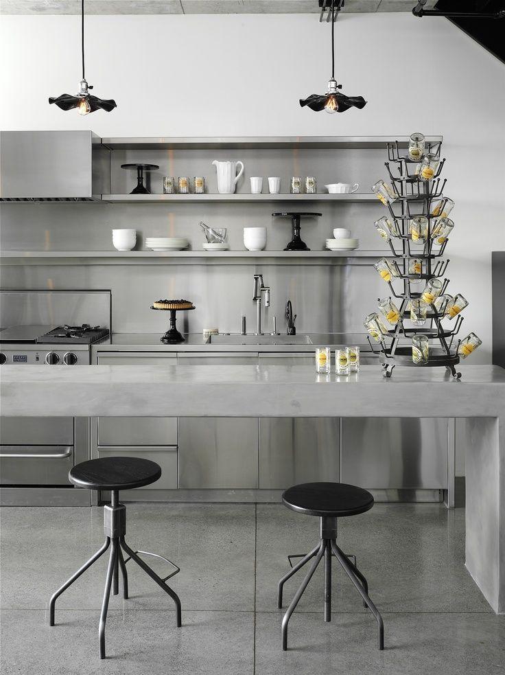 Monochromatic kitchen: all gray , http://www.interiordesign-world.com/kitchen/monochromatic-kitchen-all-gray/