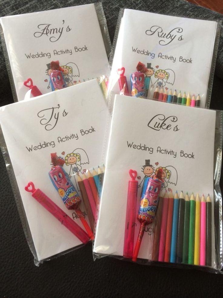 Personalised children s wedding activity pack