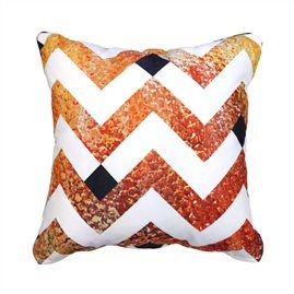Sunset Chevron 45cm x 45cm - Double sided cushion Australian made & designed Designs from original artworks www.lillyrockshop.com.au