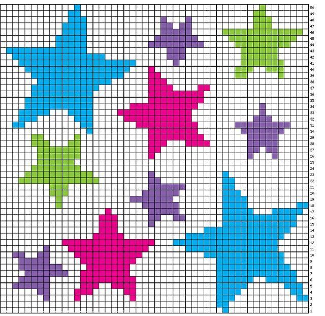 Muster für gehäkelte Sternendecke