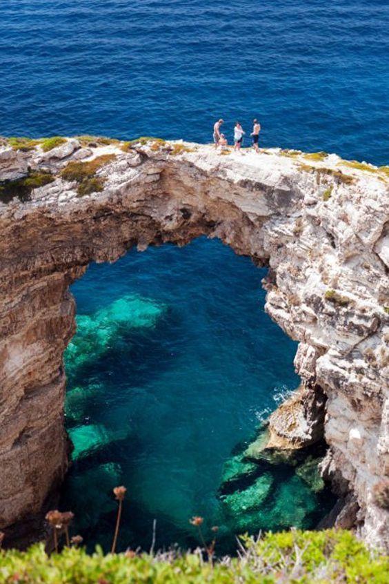 Tryptos Arch, Corfu,  Greece