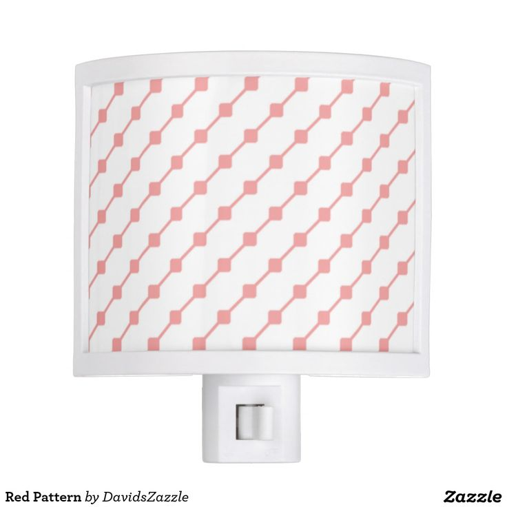 Red Pattern Night Light  Available on many more products! Type in the name of this design in the search bar on my Zazzle products page!   #abstract #art #pattern #design #color #accessory #accent #zazzle #buy #sale #bathroom #home #decor #bedroom #duvet #cover #shower #curtain #toothbrush #soap #dispenser #amenities #blanket #throw #accent #living #modern #chic #contemporary #style #life #lifestyle #minimal #simple #plain #minimalism #square #line #white #red