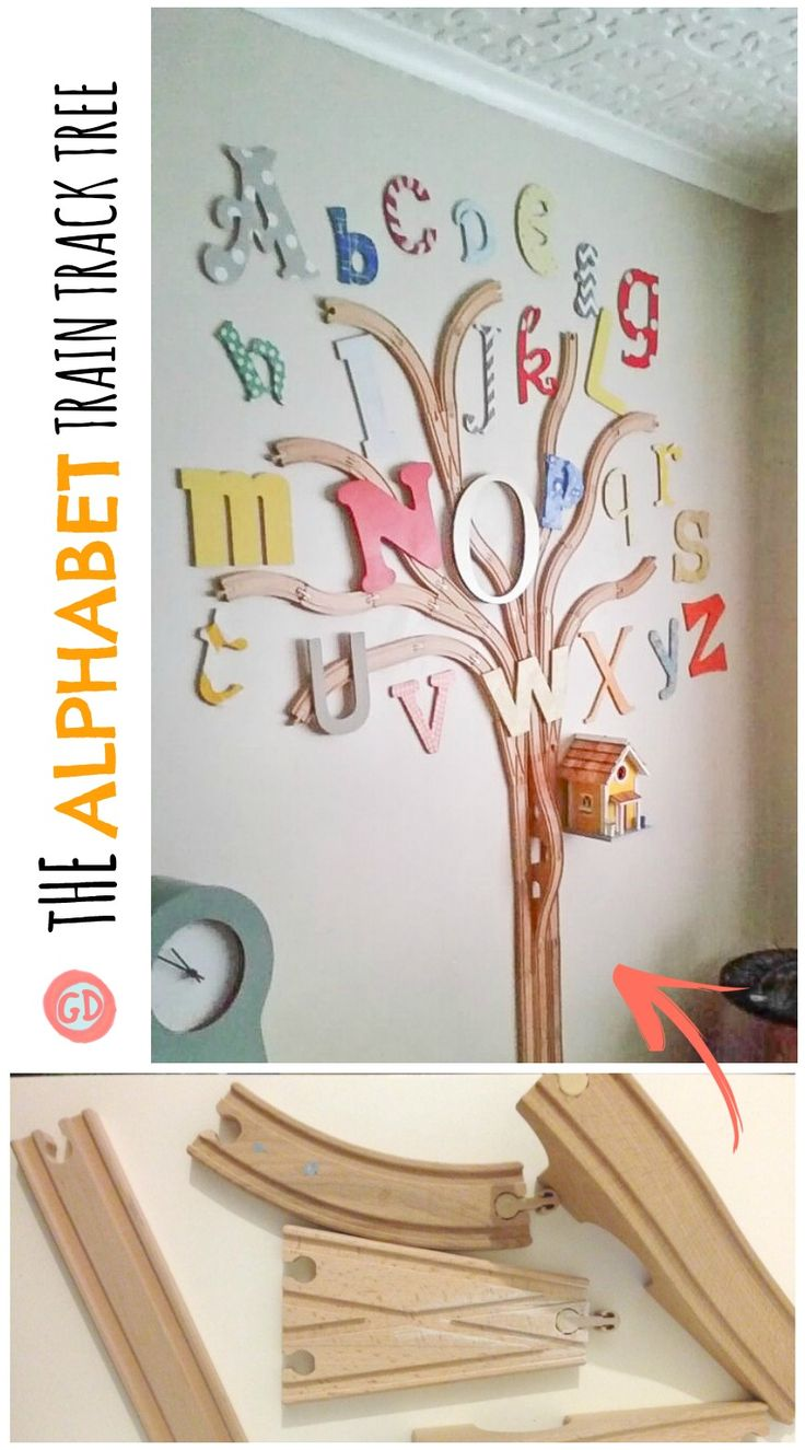 See how I recycled old train tracks to create an alphabet tree!