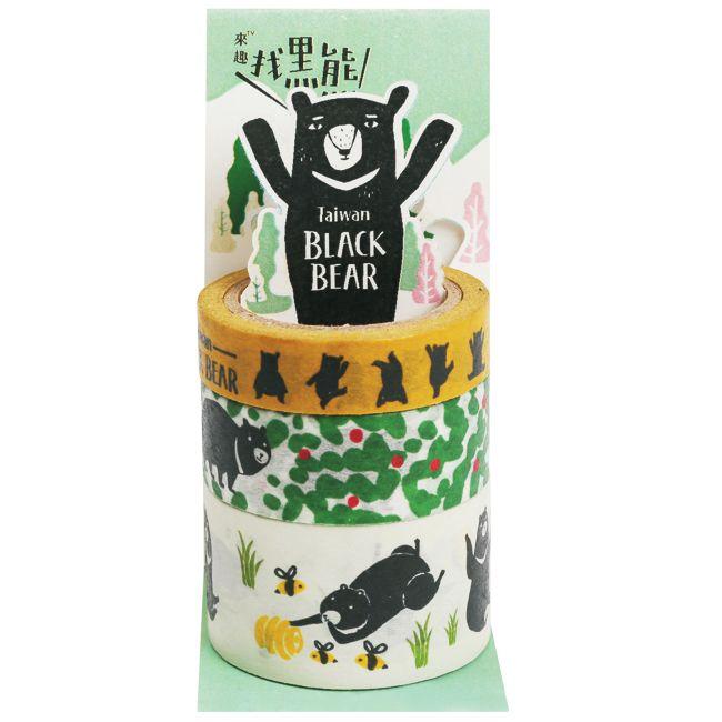 Jean黑熊紙膠帶組/ 手繪黑熊 + 每日新品 | 誠品網路書店