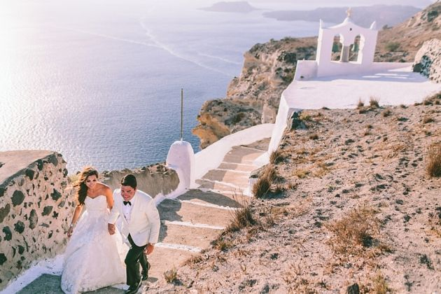 Intimate Santorini Wedding at La Maltese by Stella And Moscha Wedding in Greece