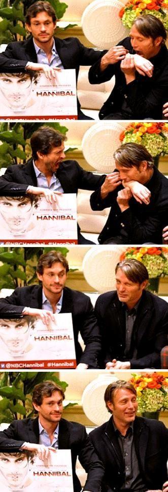 Hugh Dancy and Mads Mikkelsen ||| Hannibal