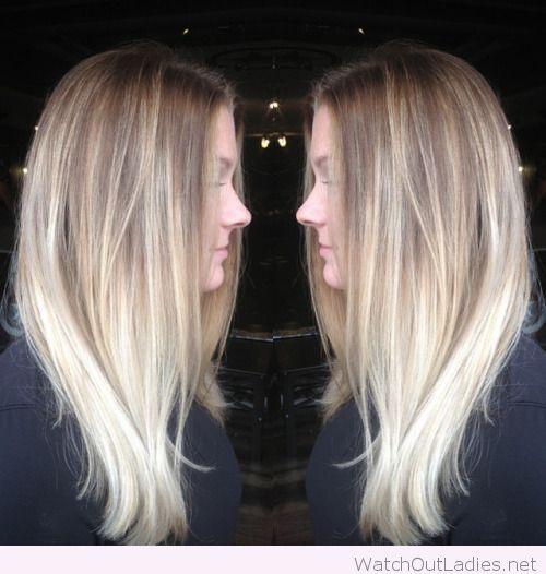 Lovely platinum blonde color melt