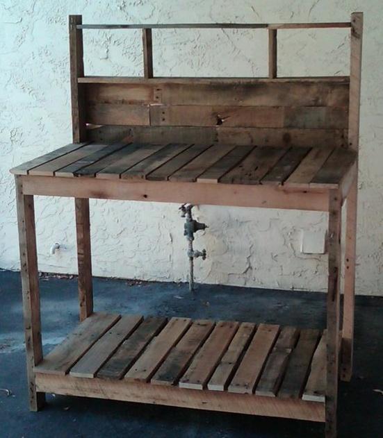 work bench for the Garden