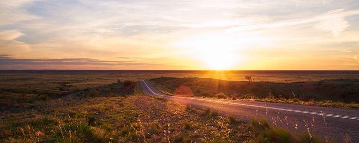 Copyright, 2016. Natalie Uscinas. Road to nowhere. Mundi Mundi Plains. Outback New South Wales, Australia.