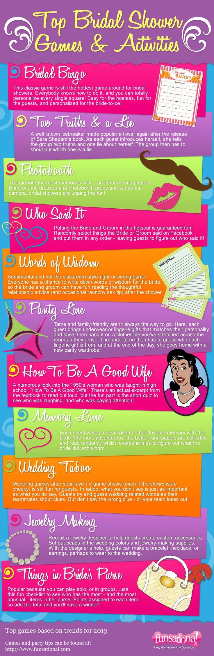 Top bridal shower games and activities for 2013...