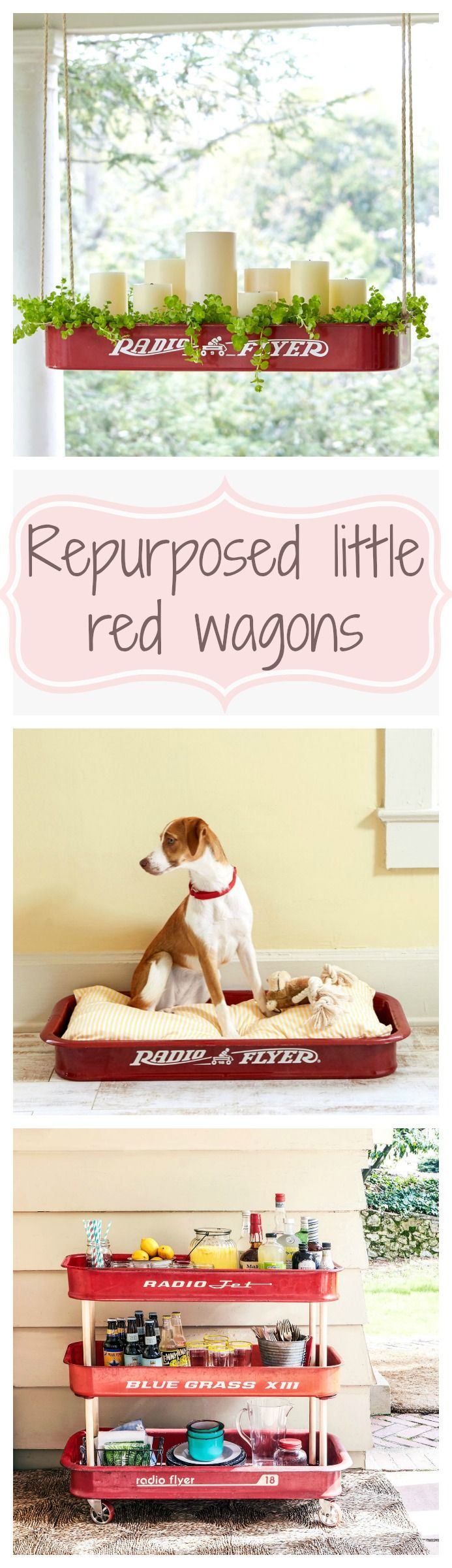 Repurpose your old little red wagon with these done-in-a-day DIY projects that will add nostalgic style in and around the house!