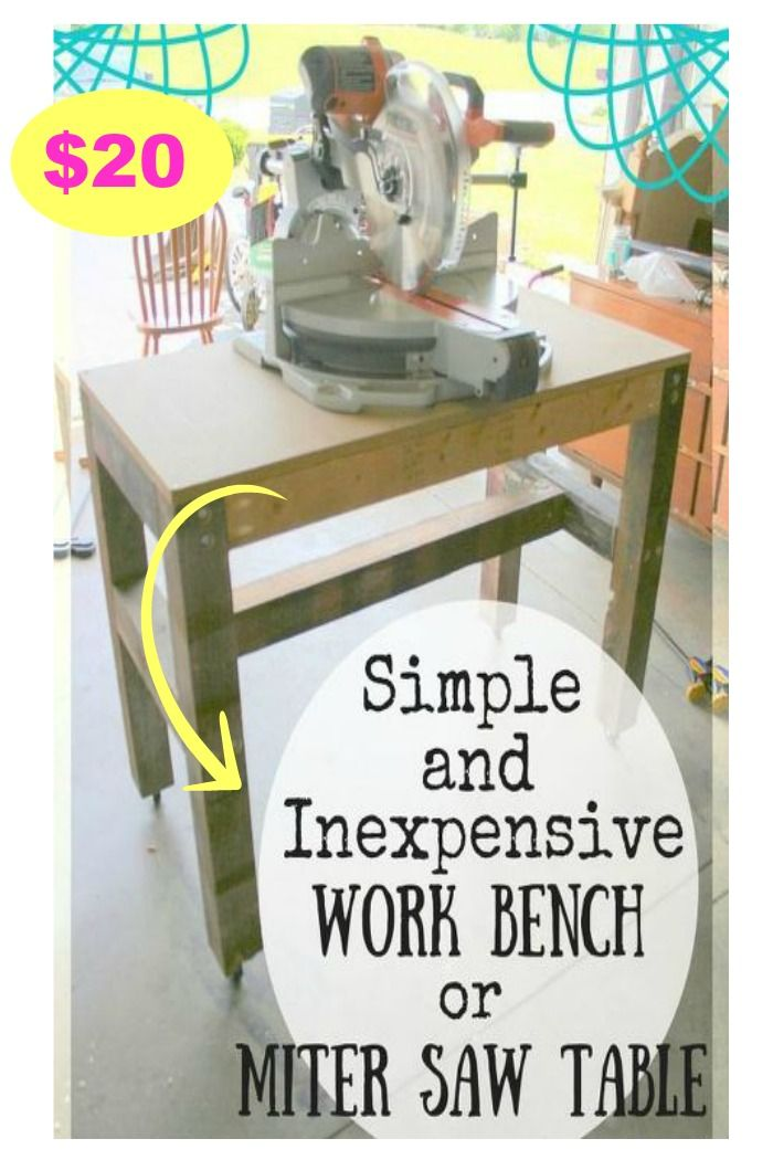 $20 Simple Sturdy Work Bench for Any Kind of Work!
