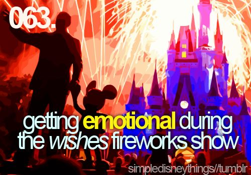 getting emotional during the wishes fireworks show