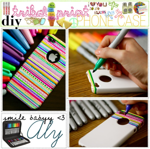 -going to do this!- WHAT YOU NEED:  A lot of colored sharpies, a white iPod/iPhone case & a ruler. WHAT TO DO: Don't be scared to start it! Just think of it as drawing on a normal, white paper! :) If you need some design ideas look up tribal prints a lot of good pictures will come up. You can also apply clear nail polish to make it shiny & last longer. HAVE FUN!
