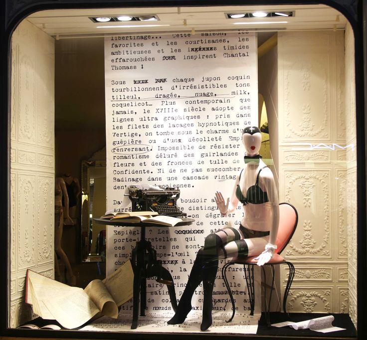 F vrier 2015 vitrine boutique chantal thomass 211 rue - Salon lingerie paris ...