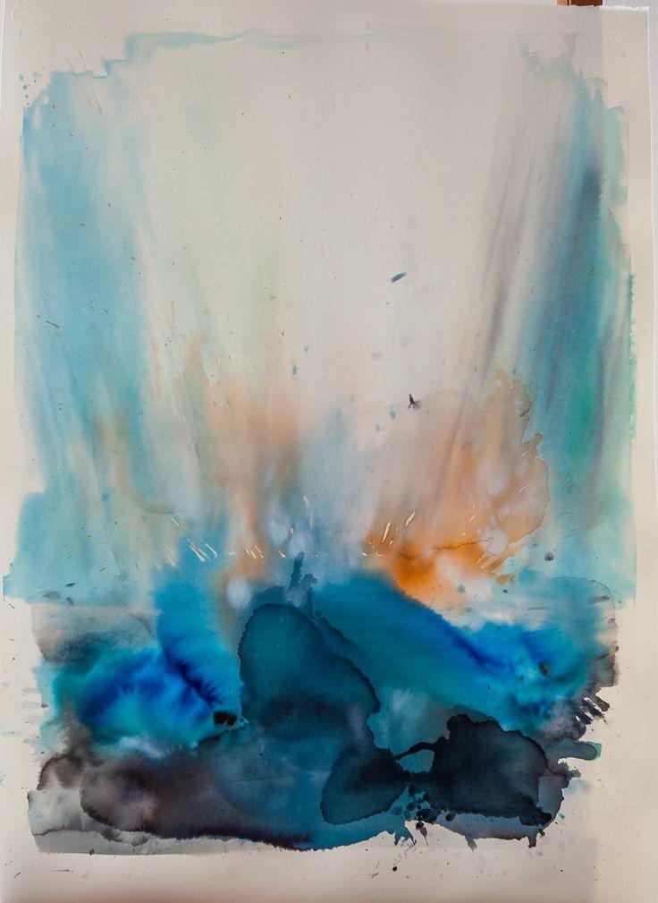 Ile De France (Ilaria Franza) water colour and ecoline. 65 x 85 cm Un.Limited 03