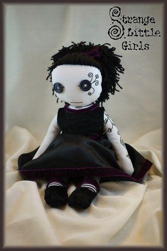 Gothic rag doll for Kari -  by Jo Hards