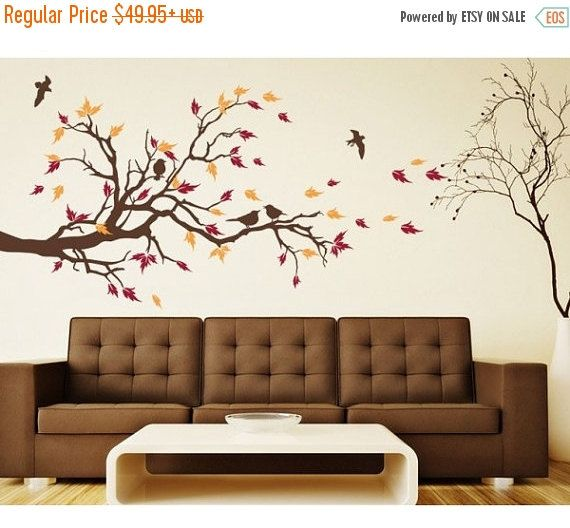 20% OFF Autumn Bird branch tree wall decal by StyleandApplyDecals