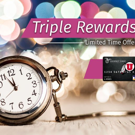 Now through December 31, you'll receive Triple Rewards Points on every dollar you spend with your DFCU Visa Platinum Rewards card! Don't wait another minute. Apply today!  goo.gl/LNMqAL