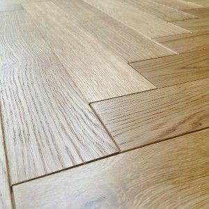 Loire Parquet Herringbone Oak Brushed Oiled Engineered Flooring 53cm x 8  £25