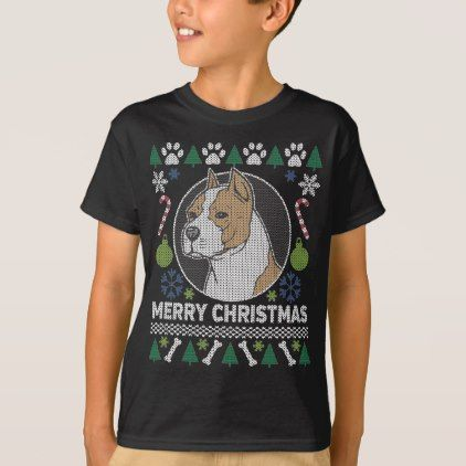 #American Stafford Dog Breed Ugly Christmas Sweater - diy cyo customize personalize design