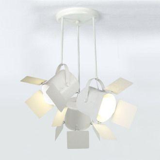 Suspension 3 projecteurs en acier diam�tre 60 cm Abbas