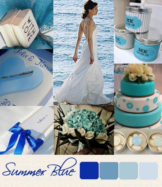 Summer blue wedding style